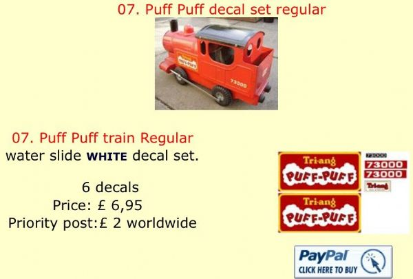 07. Tri-ang Puff Puff decal set regular
